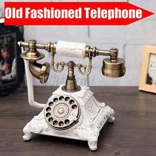 Weiß Telefon Vintage Festnetztelefon Haustelefon Nostalgie Tischdeko Geschenk