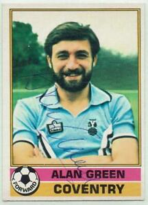 Alan Green signed 1977 / 1978 Topps Red Backs card #146 Coventry City