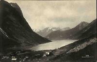 Øie Norwegen Norge AK ~1930 See Dorf Gewässer Landschaft Liggende Fjord Berge