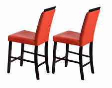 Kings Brand Furniture - Counter Height Parson Dining Chairs (Red) - Set Of 2