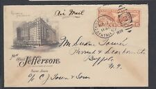 USA 1935 HOTEL JEFFERSON AIRMAIL COVER ST LOUIS MISSOURI TO BUFFALO NEW YORK