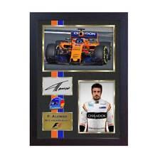 Nuevo 2018 Fernando Alonso Fórmula 1 McLaren Renault firmado foto impresión enmarcado
