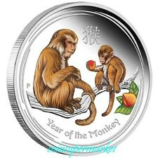 New ListingAustralia Lunar Series Ii 2016 Year Of The Monkey 1oz Silver Proof Colored Coin