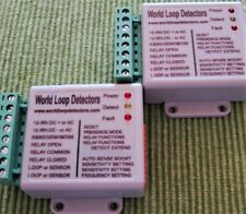 exPR8-UK DEAL;2x VEHICLE LOOP DETECTORS; 12-36V.DC/AC, ENTRY/EXIT + EXTRA SAFETY