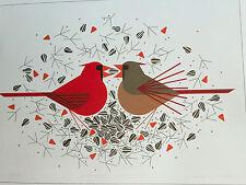 CHARLEY CHARLES HARPER  Cardinal Courtship  New Art print red bird