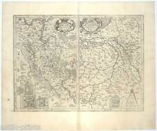 "Moers. ""Regionum"" Kupfer-Karte-Map J. Mercator 1633"
