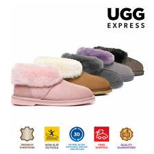 UGG BOOTS Australian Sheepskin Lady Mallow SLIPPER Pink Size XS