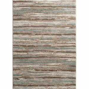 Area Rug Carpet Indoor Floor Decor Striped Multi Stain Resistant 5 ft. x 7 ft.