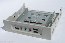 """Beige Front USB/1394/Audio Ports mit 3.5"""" bis 5.25"""" Bay Converter. profront"""