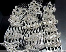 New Lots Fashion 24Pcs Tiny Size Rhinestone Tiara Crowns