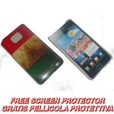 Pellicola+custodia BACK COVER FLAG ITALIA per Samsung I9100 Galaxy S2 plus I9105