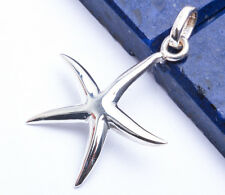 SOLID STARFISH .925 Sterling Silver Pendant  1""