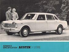 Austin 3-Litre Preview 1967-68 UK Market Foldout Sales Brochure