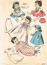 "8454 Vintage Baby Doll Patterns - Size 13.5"" -  Year 1955"