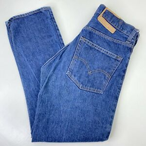 Vintage 70s 80s Levis 505 Red Tab Faded Distressed Denim Blue Jeans - Mens 30x28