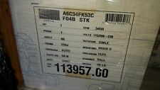 Leeson Electric Motor 113957.00 1 HP 3450 Rpm 1PH 115/208-230 V 56J Frame tefc