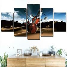 Violin Music Desert 5 piece HD Art Poster Wall Home Decor Canvas Print