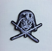 Darth Vader black and white star wars Art Badge Iron or sew on Embroidered Patch