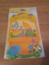 Carlton Cards® Easter Cards for Kids ~ Cartoon Bunny Laying in Grass Easter Eggs