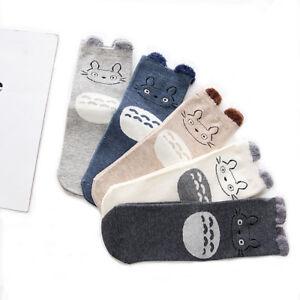 Super Cute Women/Girl's My Neighbor TOTORO Mid Calf Cotton Socks [5 Pairs]