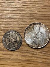 Vatican City Silver Coins 1000 Lira 1983-84 John Paul 20 Baiocceo 1868