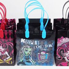 Monster High Birthday Party Favors Goody Gift Candy Bags Loot Bolsas Regalos