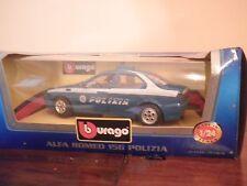Auto da Collezione metal BURAGO  MODELLINO Alfa Romeo 156 Polizia 1/24