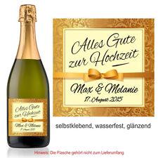 1 Aufkleber Sektflasche Weinflasche Fest personalisiert Sekt zur Hochzeit