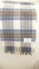 JOHNSTON  SINCE 1737  CHECKED SCARF MADE IN SCOTLAND 100% LAMBSWOOL -NEW