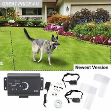 Underground Electric Dog Fence 2 Shock Collars Waterproof Hidden System Pet safe