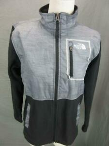 THE NORTH FACE SIZE L(14-16) BOYS GRAY FULL ZIP OUTDOOR FLEECE LINED JACKET T604