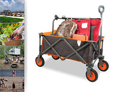 PORTAL Folding Utility Wagon Collapsible Garden Cart For Outdoor Sports Camping