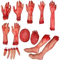Halloween Prop Horrible Broken Limbs Fake Organs Rubber Tricky Party Decorations