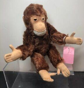 "11"" Vintage Mohair Steiff Jocko? Monkey Fully Jointed Germany No Squeaker #S"
