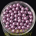 New 144pcs 8mm Round Czech Glass Pearl Loose Spacer Beads Fuchsia