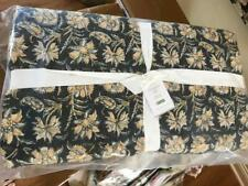 Pottery Barn Zoya Quilt Set Black Gold King 2 King Shams Floral Kalamkari
