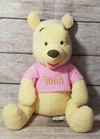 "Disney Store Plush Seersucker Winnie The Pooh Stuffed Animal 16"""