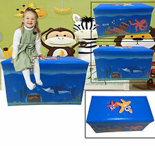 Tidy Large Storage Bench Kids Toys Books Childrens Folding Stool Seat Toy Box