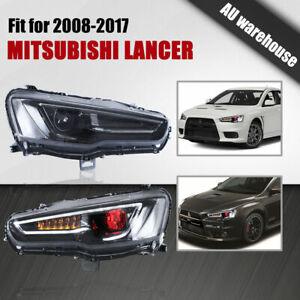 Devil Eyes Headlights LED DRL Front Lamp for 08-17 Mitsubishi Lancer CJ CF EVO X