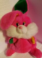 "Hot pink Bunny rabbit plush and puppet vintage Easter 15"" full body story time"