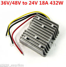 Waterproof Buck Converter Step Down Module Power Supply 36V/48V to 24V 18A 432W