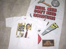 Vintage TGIF 1990s HOME IMPROVEMENT ABC TV Show Beach Towel Shirt L Lot USED