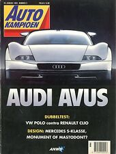 1992 AUTOKAMPIOEN MAGAZIN 2 AUDI AVUS VW POLO RENAULT CLIO MERCEDES S CLASS