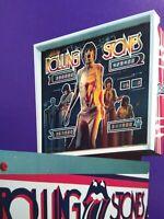 Bally Rolling Stones Pinball FLYER Original 1980 Artwork Sheet Rock & Roll Music