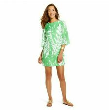 LILLY PULITZER For Target Boom Boom Dress Green Large Leaf Print Size Small