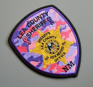 Lea County New Mexico Sheriff Pink Camo Patch +++ Breast Cancer Awareness CA