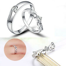 Heart Promise Ring Wedding Fashion Silver Finger Band Plated Women And Men