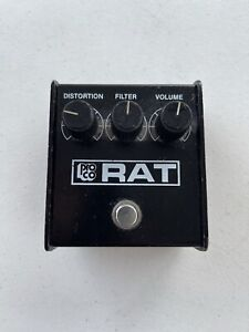 ProCo The Rat Distortion Woodcutter Blackface Vintage 1987 Guitar Effect Pedal