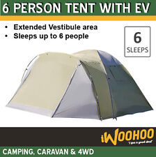 6EV Person Tent with Vestibule Family Tent with Large Rooms and Lots of Storage
