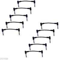 """10PACK 6"""" right angle 1/4 to mono guitar to effects pedal board cable patch cord"""